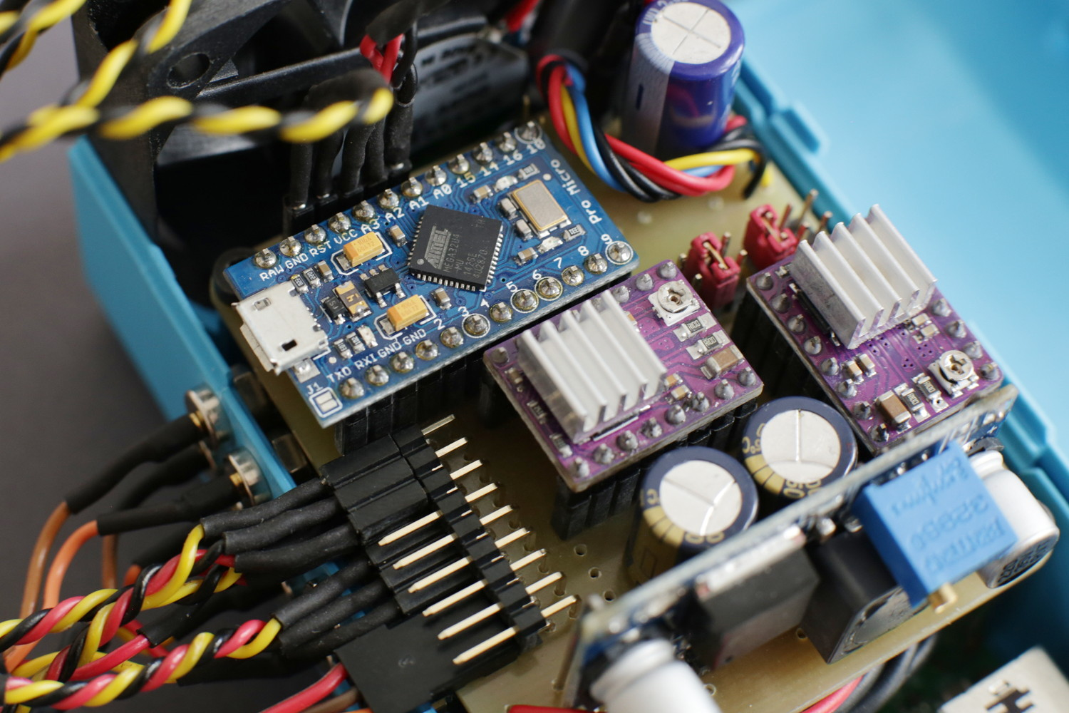 Attaching the Arduino Pro Micro is the last step and completes your Monkeyprint DLP printer controller board.