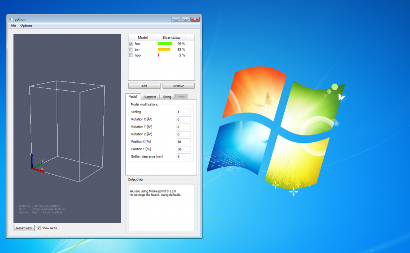 Monkeyprint 3d DLP printer software development for Windows